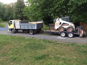 Hino Dump Truck (bobcat and trailer not for sale)