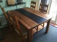 Rustic Kitchen / Dining Room table and chairs.