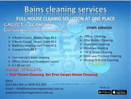 Book vacate cleaning Get free carpet steam cleaning All Suburbs West Perth Perth City Preview