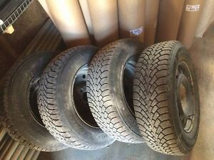 Winter tires on rims for sale!