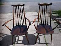 Two ercol Windsor carvers