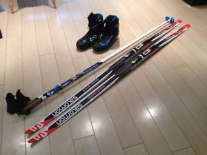 Salomon cross country skate skis + boots + poles