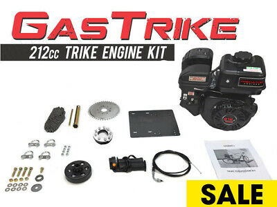 4 Stroke 212cc Trike Engine Kit Gas Motorized Bicycle