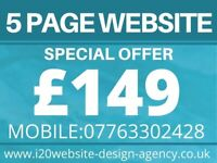 5 page Website £149/Free Hosting/ 5 star reviews/Logo Design