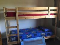 Ikea Mydal Bunk Bed and two single Next Matresses