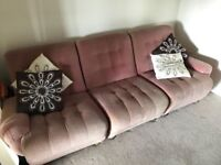 Free 3 or 2 seater sofa can be made into single chairs