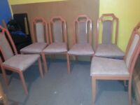 6 CHAIRS EXCELLENT CONDITION,
