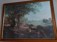 Large Country picture in wooden/glass frame(similar to Constable)