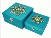 X2 Aqua Jewelled Storage Boxes