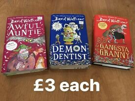 David walliams harry potter dairy wimpy kid books