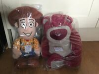 toy story soft woody £5 strawberry smelling lotso £8