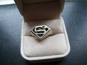 for sale..Superman sterling silver ring size 10 1/5 ,