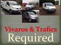 we buy all Vauxhall vivaros Renault Trafics Nissan Primastars, anything considered