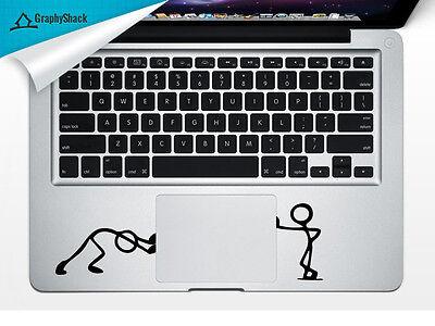 Stick Men Pushing Trackpad Laptop Sticker Mac Decals for 13 15 17 inch Stickman