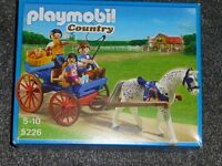 Playmobil country horse and cart brand new,sealed