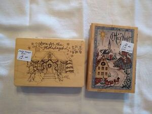 Assorted Christmas-Themed Rubber Stamps - $13 - $15 Kawartha Lakes Peterborough Area image 1