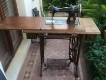 Vintage Singer Sewing Machine & Cast Wrought Iron Table Prahran Stonnington Area Preview