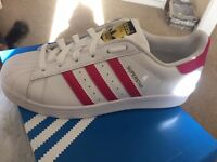 Adidas superstar trainers brand new with tags
