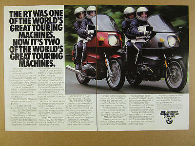 1983 BMW R100RT & R80RT motorcycles color photo vintage print Ad