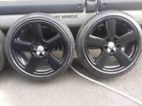 "Genuine audi rs 18""alloy wheels 5x112"