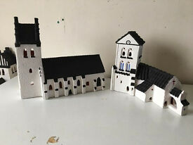 terracotta churches, hand painted