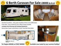 Bailey 6 birth caravan (620/6)