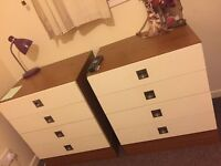QUICK SALE - BED AND MATTRESS - CHEST OF DRAWERS - TV UNIT AND MATCHING COFFEE TABLE