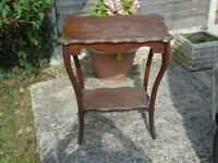 ANTIQUE ORNAMENTAL TABLE LOVELY DESIGN IDEAL SHABBY CHIC PROJECT
