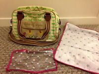 Blooming Gorgeous Yummy Mummy Pink Lining Changing bag