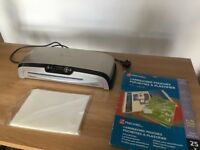 A3 Fellowes Home Office Laminator & Pouches