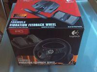 Logitech = Formula Vibration steering wheel for PC games