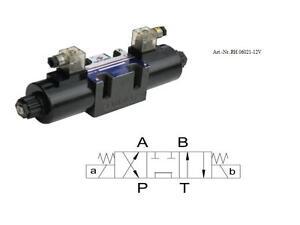 Hydraulikventil / 4/3-Wegeventil  12 Volt / Baugrösse NG 6_NG06021