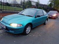 1995 Honda civic 1.3 DX TINTOP MANUAL 80,000 miles 1 lady owner! not b16a2 b18c4 ek9 type R eg6
