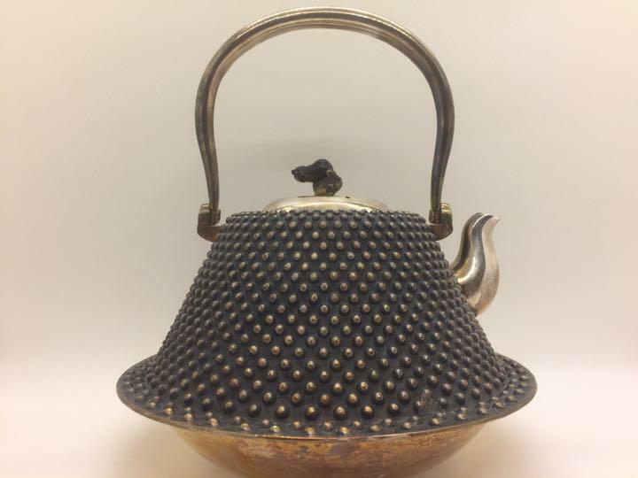 Japanese teapot Kyusu kettle pure silver ginbin arare fuji 16*16*18cm 622g
