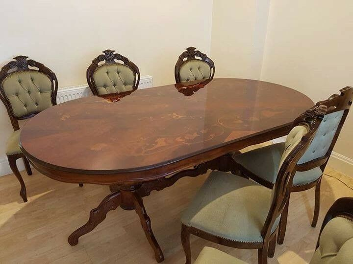 Vintage Mahogany Dining Table X8 Chairs In Littleover Derbyshire