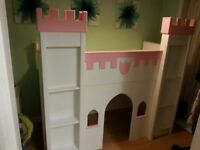 Princess Castle bed Frame & Play House