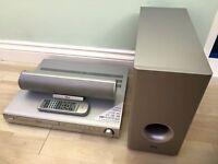 Eltax DVD player home theatre box + centre speaker + subwoofer