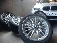 Genuine BMW E46 MV1 M-sport alloy wheels. 18' Recently refurbished with very good tyres.