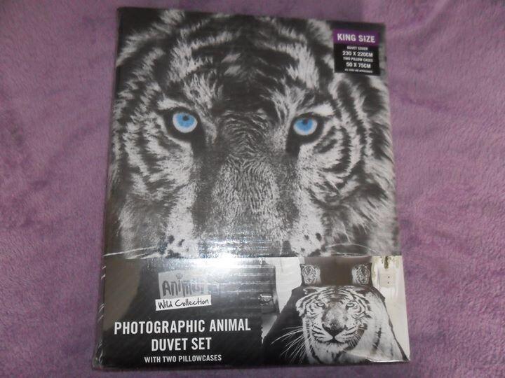 King size animal print duvet set