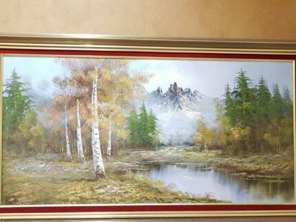 Beautiful Big Painting in an Elegant Frame