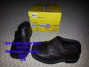 Like New Boy's Size 8.5 Dark Brown Dress Shoes for Sale!