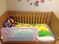 Cot bed with top changer