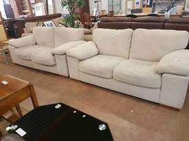 Harveys fabric sofa set. Del available