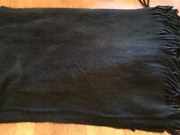 HALF PRICE - Oversized cosy black scarf from H&M - worn once - only £8 (RRP £16)