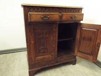 Vintage Solid Oak decorative sideboard unit