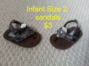 Boy's Sizes 2 (infant) and Kid's 6 , 7 , 8.5 & 11.5 Shoes!