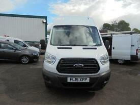 Ford Transit T350 2.2 Tdci 125Ps H3 Van High Roof DIESEL MANUAL WHITE (2015)