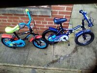 Two children`s bikes. £15 and £18