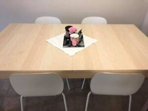 Ikea Dining Table 4-8 seater extendable  - 4 months used only