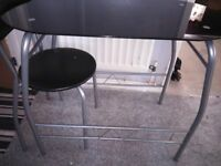 SPACE SAVING TABLE AND 2 CHAIRS
